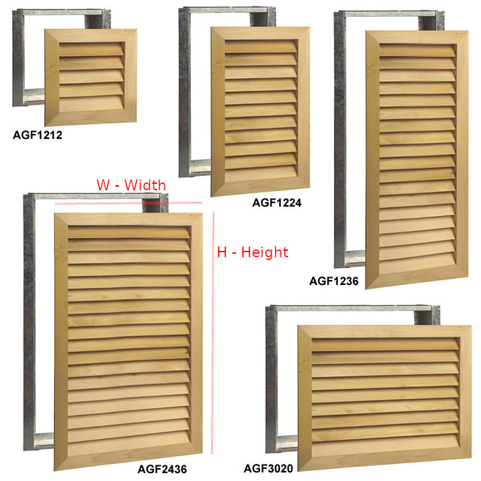 worth home products stain grade wood grilles