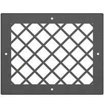 AirScape DesignShape Custom Flat Grilles - Rectangular With Diamond Pattern