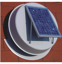 Natural Light Roof Mounted Solar Attic Fan