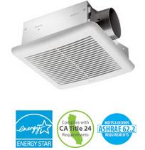"Delta BreezSlim Ceiling Mounted Bathroom Fans - 3"" Duct"