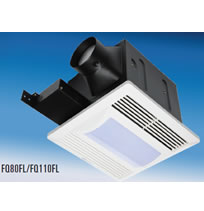 "Fantech FQ Series Quiet Ceiling Mounted Fans WITH LIGHT - 4"" Duct"
