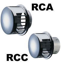 Seiho RCA and RCC Series Stainless Steel Dryer Vent Caps