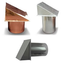 Metal Wall Hoods for Dryer Exhaust