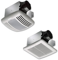 "Delta BreezGreenBuilder Ceiling Mounted Bathroom Fans - 4"" Duct"
