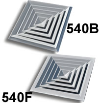 TRUaire A540F and A540B Series Directional Surface Mount Diffusers
