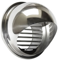 Seiho SFX-S Series STAINLESS Louvered Vent Caps With Hoods