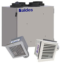 Aldes VentZone Zoned IAQ with Energy Recovery Kits