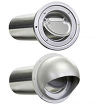 Seiho SBP and SFBP Series Aluminum Dryer Vents with Backdraft Flapper and Tail Piece