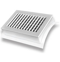 TRUaire SD1W-S Saddle Mounted Spiral Diffusers With Scoop White Finish